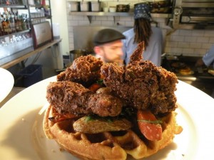 skillet diner fried chicken waffle 300x224 Josh Henderson of Huxley Wallace   Interview v.9